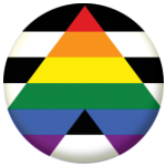 Straight Ally Flag 25mm Button Badge